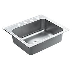 Stainless steel double bowl drop in sink