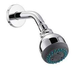 "Chrome two-function 3"" diameter spray head standard showerhead"