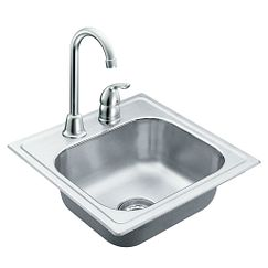 Stainless steel 20 gauge single bowl drop in sink